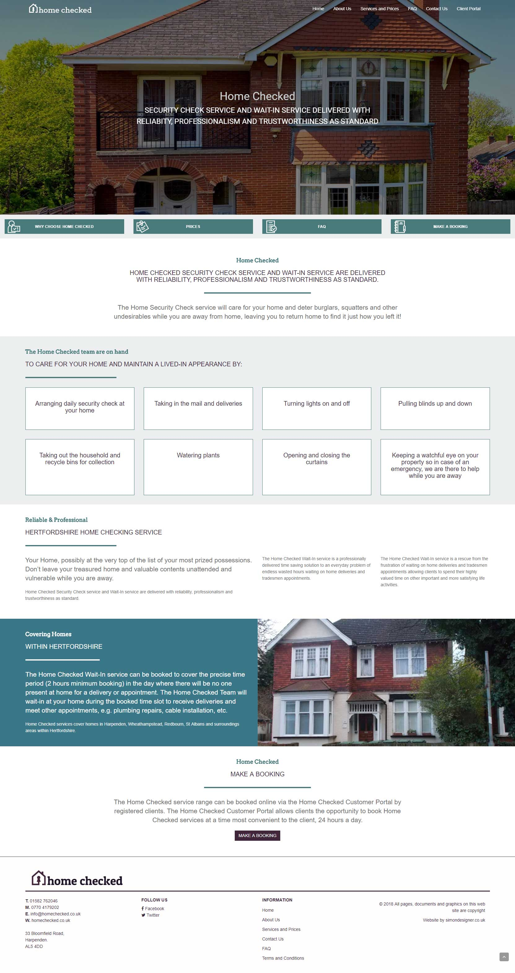 website design - homechecked