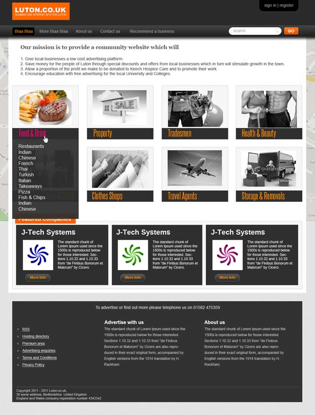 Website design - Luton Online