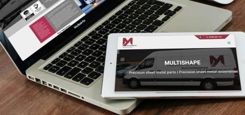 Multishape website design