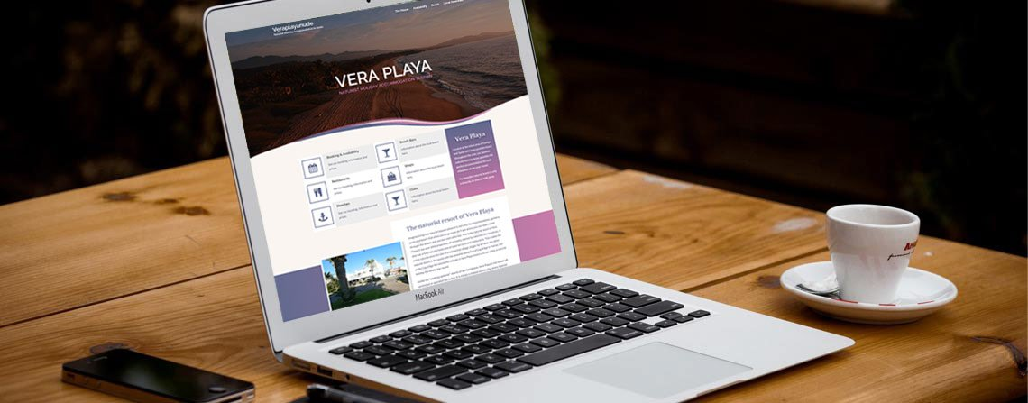 Vera Playa - Website design
