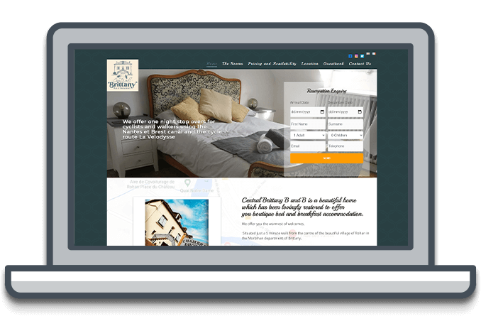 Accomodation Website Design